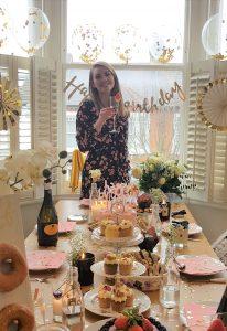Grace Maturi holding her vintage tea parties