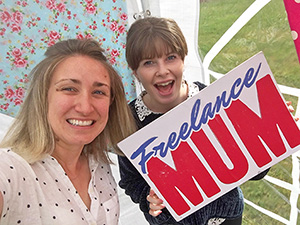 Lydia and Jenny at Freelance Mum event