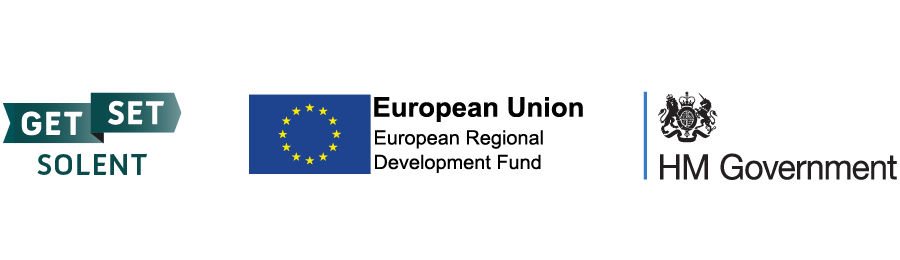 GetSet Solent, ERDF and HM Government logos